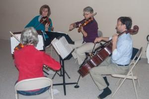 quartet at open house